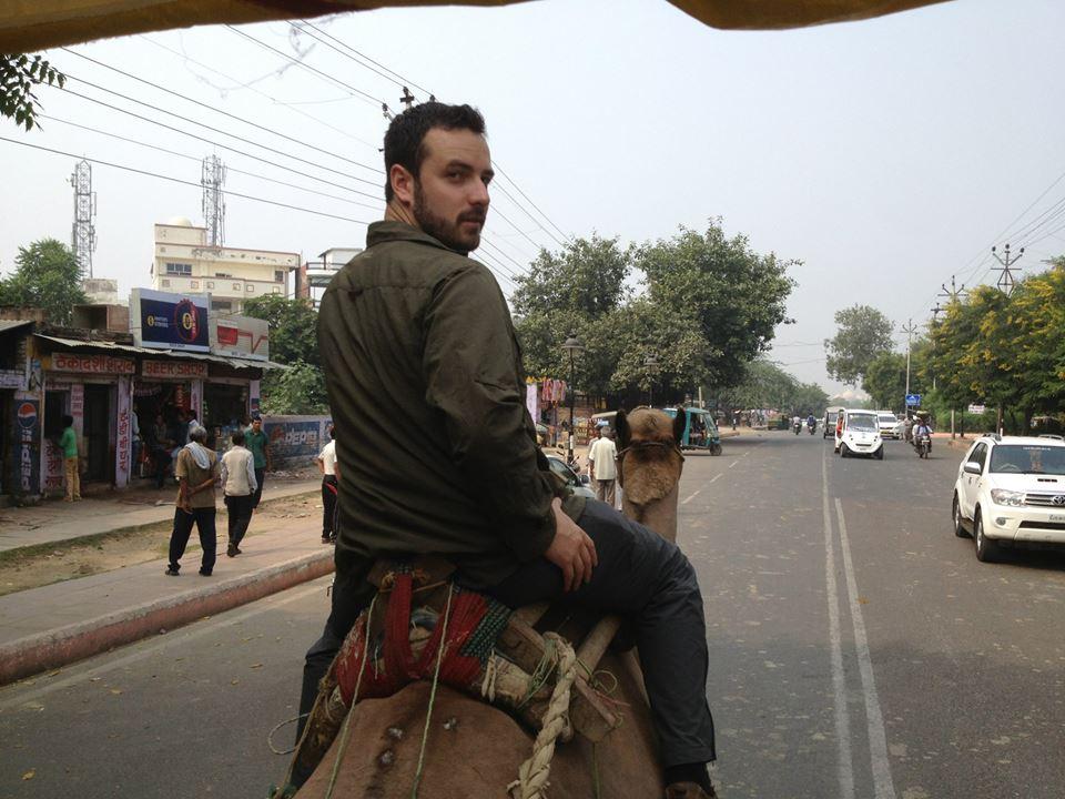 Jeff on a camel