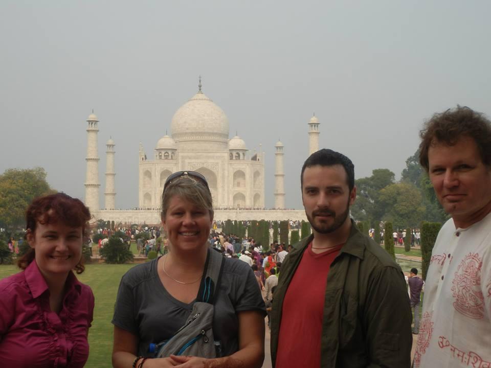 Us at the Taj better