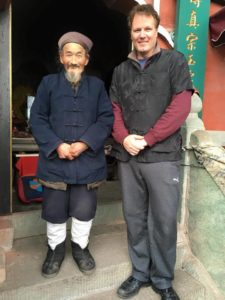 Terry Hodgkinson with Wudant Taoist Master Jia